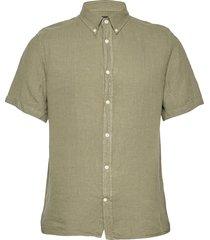 clean linen ss slim shirt overhemd met korte mouwen groen j. lindeberg
