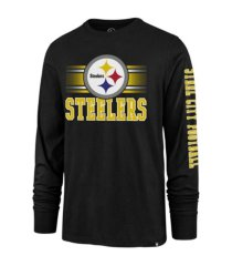 '47 brand pittsburgh steelers men's power rush super rival long sleeve t-shirt