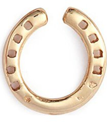 'horseshoe' 14k yellow gold single stud earring - protection