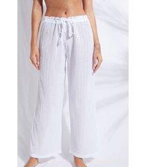 calzedonia lamé palazzo pants woman white size m/l