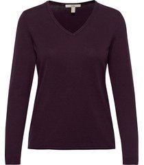 sweaters stickad tröja lila edc by esprit