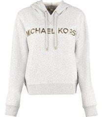 michael michael kors cotton hoodie