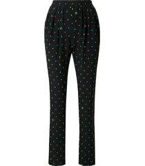 stella mccartney all-over print trousers - black