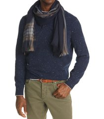 men's brunello cucinelli border stripe cashmere & silk scarf