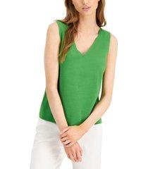 alfani petite sleeveless v-neck sweater, created for macy's