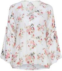 blossom blouse lange mouwen roze line of oslo