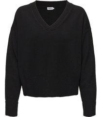 cropped v-neck sweater stickad tröja svart filippa k
