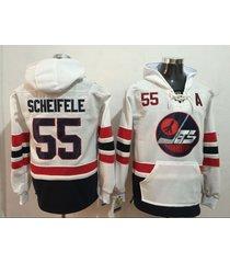 men's winnipeg jets 55 mark scheifele hockey pullover hoodie jersey