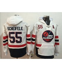 men's winnipeg jets 55 mark scheifele hockey pullover hoodie jersey