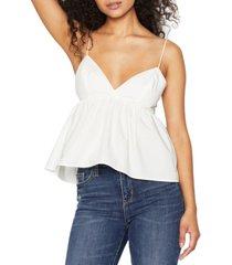 bcbgeneration sleeveless babydoll cotton top