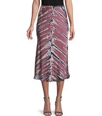 tie-dye pull-on skirt