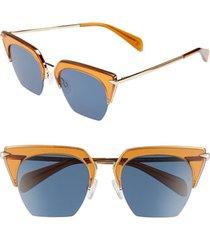 rag & bone 51mm cat eye sunglasses in orange/gold at nordstrom