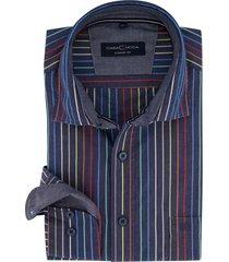 overhemd casa moda donkerblauw strepen