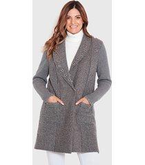 abrigo wados gris - calce regular