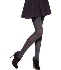 hue tights sz s / m cobblestone alligator tight with control top nylon 14797