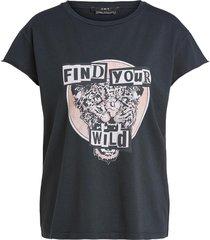katoenen t-shirt met print saba  zwart