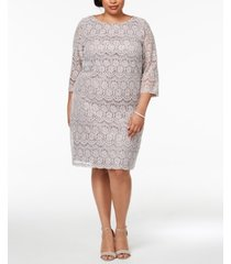 jessica howard plus size sequined lace shift dress