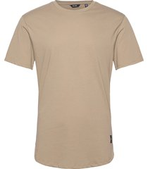 onsmatt life longy ss tee noos t-shirts short-sleeved beige only & sons