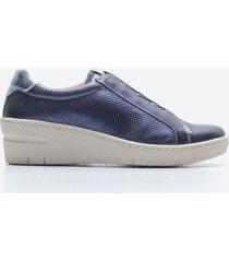 zapato casual mujer freeport z058 azul