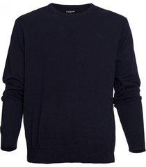 sweater cuello redondo azul marino mcgregor