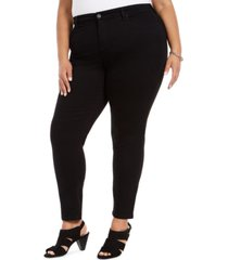 style & co plus size mid-rise curvy skinny jeans, created for macy's