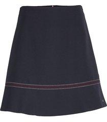 angela skirt korte rok blauw tommy hilfiger