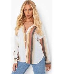 gerecyclede gestreepte blouse, stone