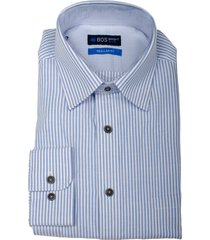 bos bright blue ward shirt casual hbd 21107wa38bo/262 used blue