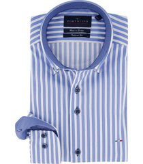 mouwlengte 7 portofino overhemd gestreept blauw