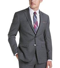 calvin klein gray plaid x-fit suit