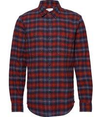 flannel work shirt skjorta casual röd gap