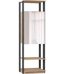 estante armário c/espelho carvalho mel/expresso be mobiliário