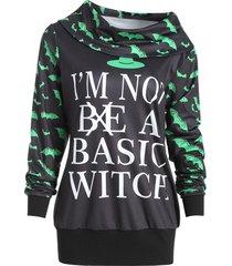 halloween bat print sweatshirt