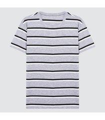camiseta hombre franjas grises