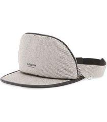 burberry zip pocket-detail visor hat - black