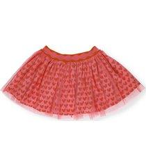 stella mccartney hearts tulle skirt