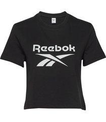 cl f big logo tee t-shirts & tops short-sleeved svart reebok classics