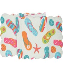 """c f home flip flop life quilted runner, 14""""x 51"""""""