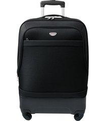 maleta de viaje mediana negro hibrido - explora