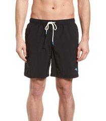 men's tommy bahama naples coast swim trunks, size x-large - black