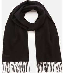 barbour causal women's lambswool woven scarf - black
