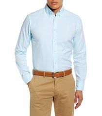 men's eton soft casual line slim fit oxford shirt, size 15.5 - green