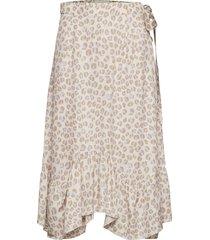 asbjorg knälång kjol beige fall winter spring summer