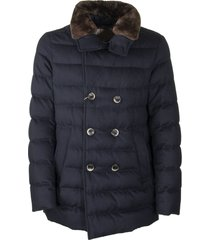 herno resort peacoat down jacket cashmere and silk