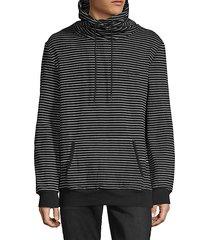 striped stretch-cotton sweatshirt