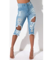 akira let's get away distressed bermuda denim short