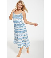 sicily cotton embroidered tiered midi dress