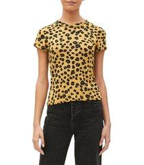 women's michael stars leopard shine crewneck t-shirt