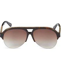 57mm clubmaster sunglasses