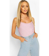 cowl neck cross back cami top, lilac